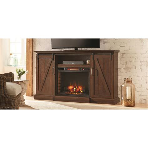 rustic electric fireplace home decorators collection chestnut hill 68 in media