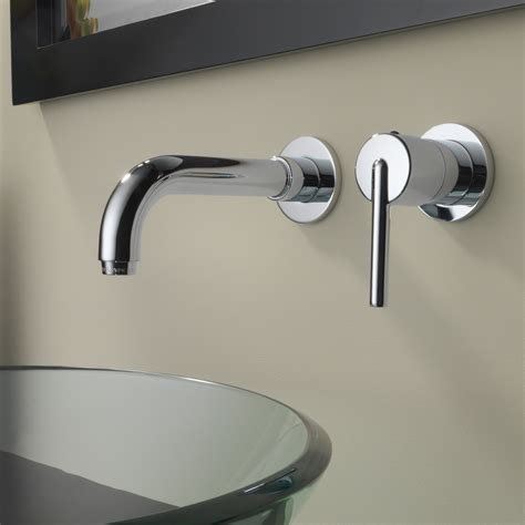Delta Wall Mount Bathroom Faucets by Delta Trinsic 174 Single Handle Wall Mount Bathroom Faucet