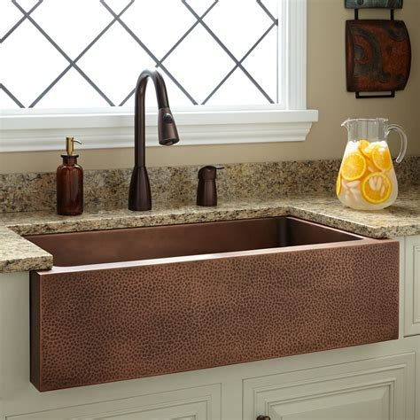 Copper Farmhouse Kitchen Sinks 34 Quot Perenna Reversible Copper Farmhouse Sink Kitchen
