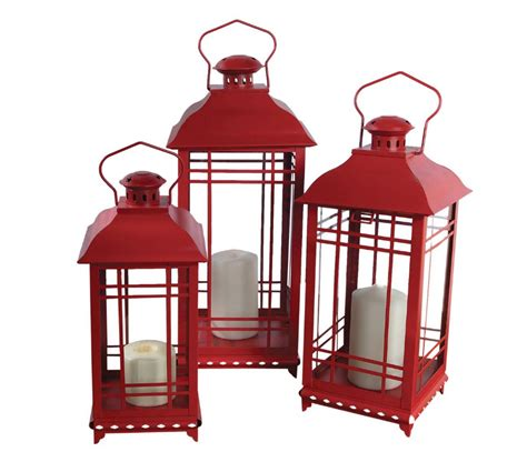 Set Of Three Candle Lanterns Set Of 3 Candle Lanterns 14 17 And 20 Inch Buy Now