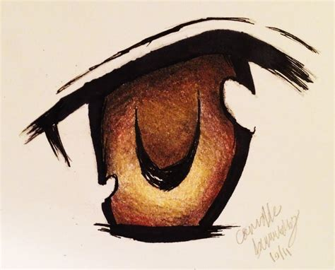 anime eyes drawing in pencil drawing an anime eye with colored pencils time lapse