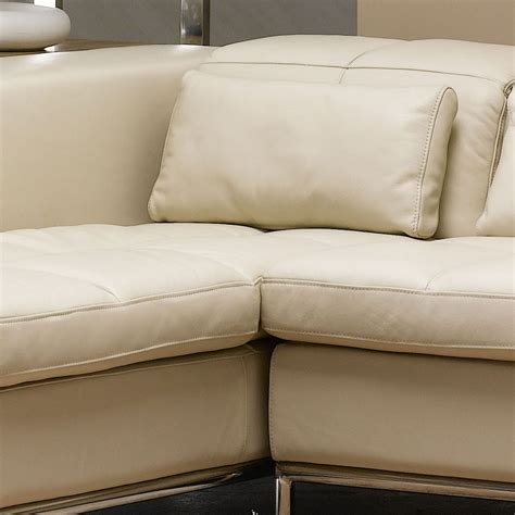 beige l shaped couch beige contemporary l shaped leather sectional sofa couch w