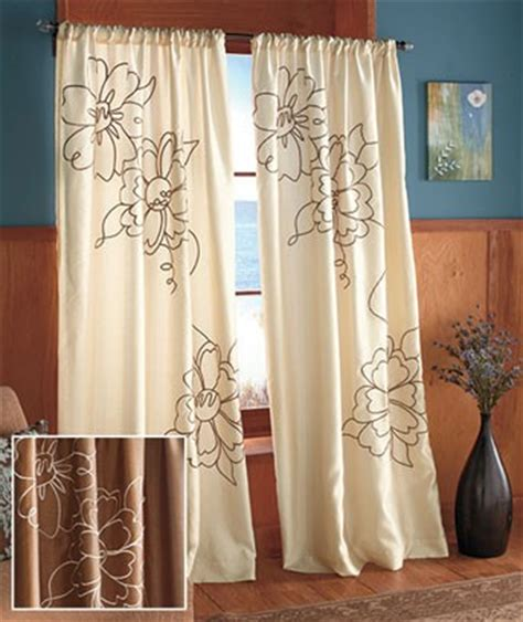 modern patterned curtains uk window curtains drapes new embroidered lined wildflower curtain ivory or taupe