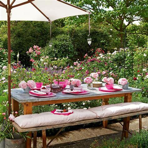 decor pour jardin decoration de table pour recevoir en plein air design feria