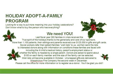 sponsor a child for christmas gift dolan fund s adopt a family program achieves