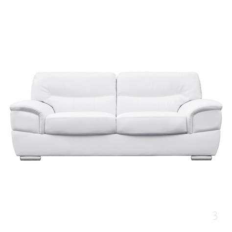 Barletta Italian Inpired White Leather Sofa Collection White Sofa