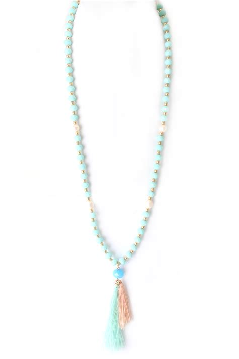 tassel bead necklace glass bead with freshwater pearl tassel necklace necklaces