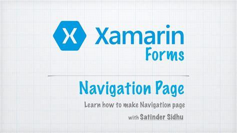 xamarin forms tutorial youtube xamarin forms tutorials 3 navigation page youtube