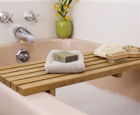 bathtub caddy wood easy diy projects for summer popsugar home home