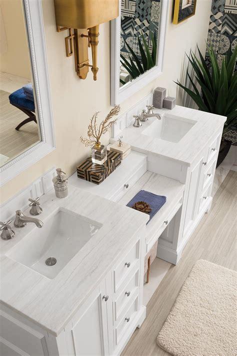 de soto bright white double sink bathroom vanity