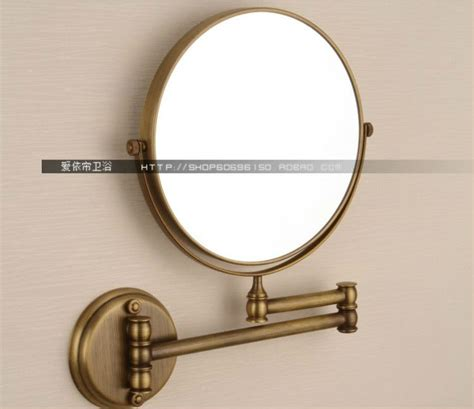 Luxry Brass 8 Inch Antique Shaving Cosmetic Mirror Double Brass Bathroom Mirrors