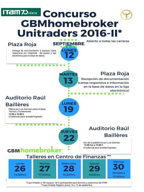 Calendario Escolar Posgrados Itam Gbmhomebroker Unitraders 2016 Ii Www Itam Mx