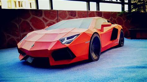 Build A Lamborghini Model Lamborghini Aventador Diy Papercraft Model Built By Wang