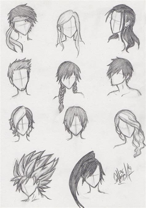 everyday anime hairstyles everyday blogs day four drawing tuts and tips
