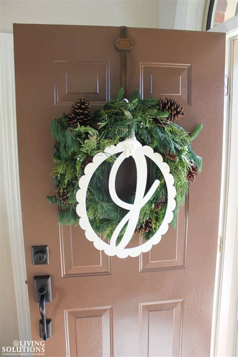 Front Door Wreath Hanger Home Tour Living Solutions