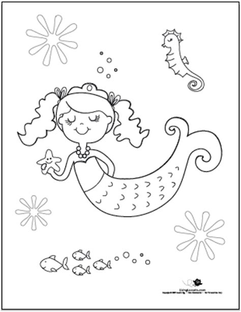 mermaid birthday coloring page red blonde tangles under the sea mermaid birthday party