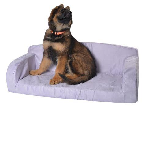 pet settee designer pet sofa dog bed red pink faux suede lounge