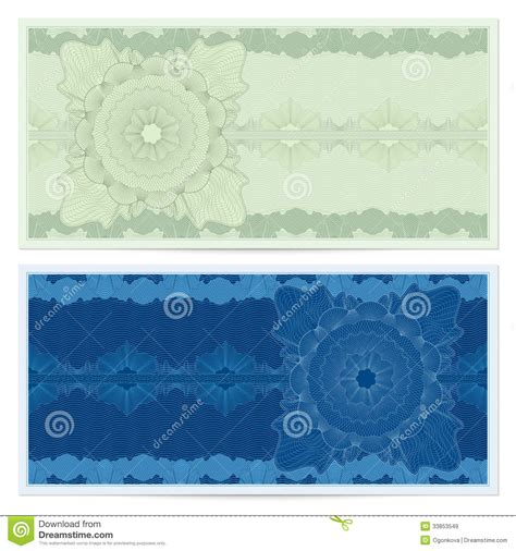bank note template voucher gift certificate coupon ticket pattern royalty