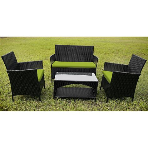 Rattan Patio Furniture Set 4 Outdoor Pe Rattan Wicker Sofa And Chairs Set Rattan Patio Garden Furniture Setcushion