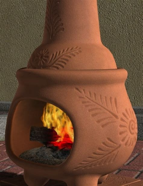 Terra Cotta Chiminea by Chiminea