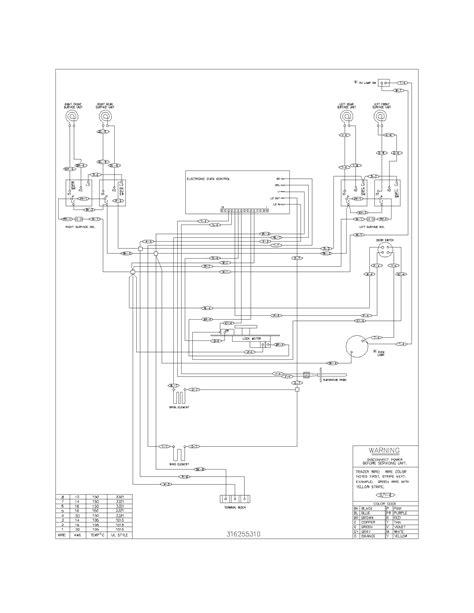 appliance diagrams frigidaire fef352aug electric range timer stove clocks