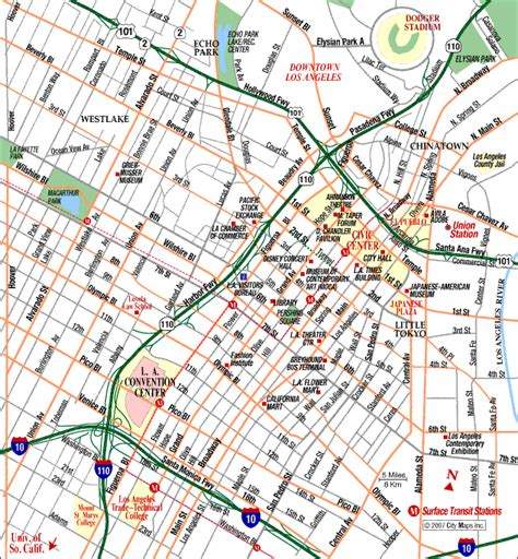map to los angeles california map of la california los angeles streets freeways 2016
