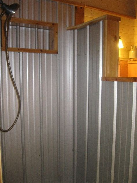 Using Corrugated Metal For Shower Walls by 17 Best Ideas About Tin Shower On Galvanized