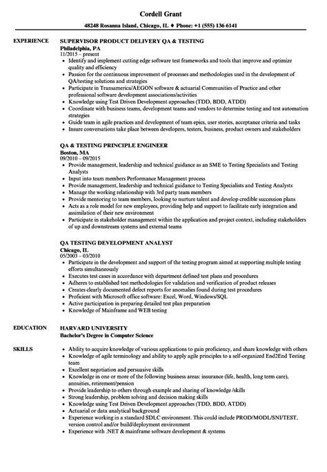 qa tester resume samples regarding quality assurance tester resume