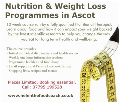 weight loss nutrition helen the food coach nutrition weight loss programmes