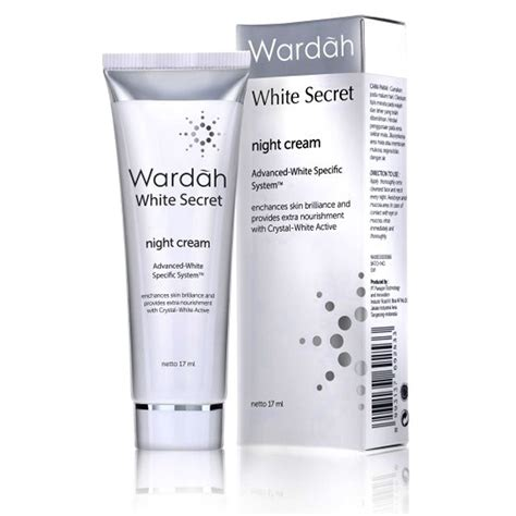 Pelembab Wardah Whitening wardah white secret 17ml elevenia