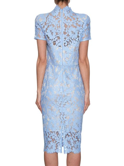 womens light blue dress lyst lover warrior french lace midi dress in blue