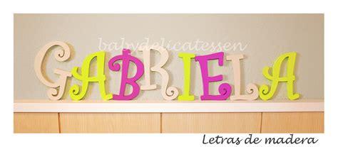nombre decorado gabriela baby delicatessen letras de madera gabriela