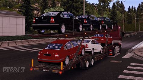 volkswagen cer trailer volkswagen passat car transport trailer ets 2 mods