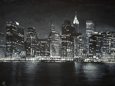 paint nite manhattan manhattan skyline at painting by hotai