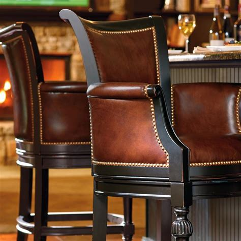 Chesterfield Leather Bar Stools by Chesterfield Bar And Counter Stools Frontgate