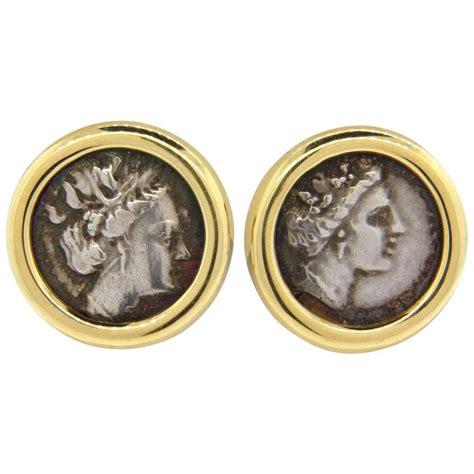 bulgari monete gold ancient coin earrings at 1stdibs