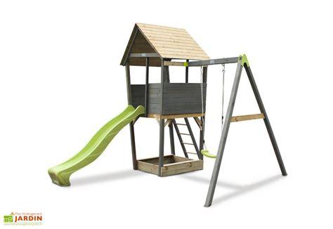 portique balancoire toboggan portique aire de jeux balan 231 oire toboggan exit toys