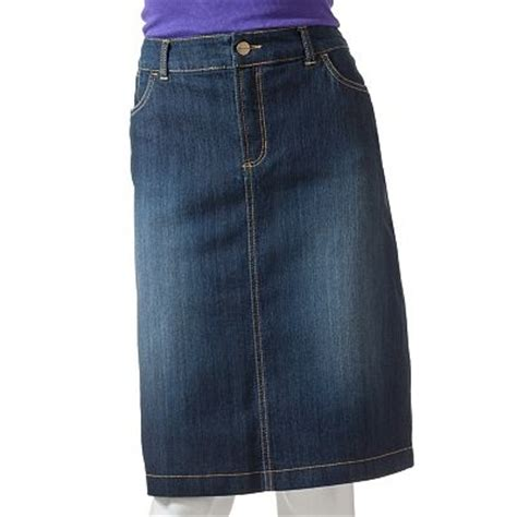 and barrow denim skirt from kohl s my style