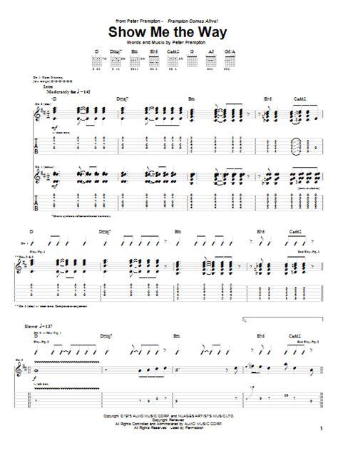show me the way guitar tab by frton guitar tab