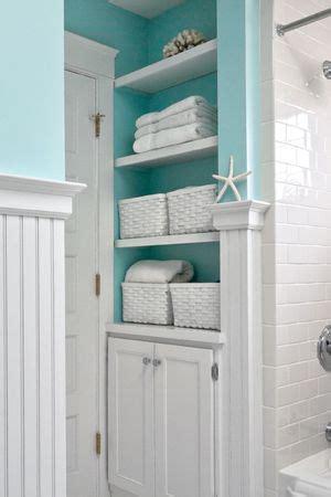 Bathroom Closet by Bathroom Aqua And Shelves On