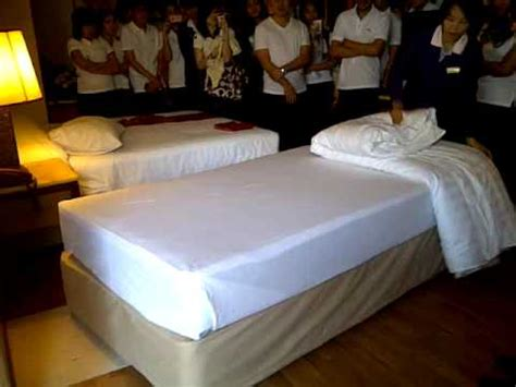 correct way to make a bed housekeeping how to make bed youtube