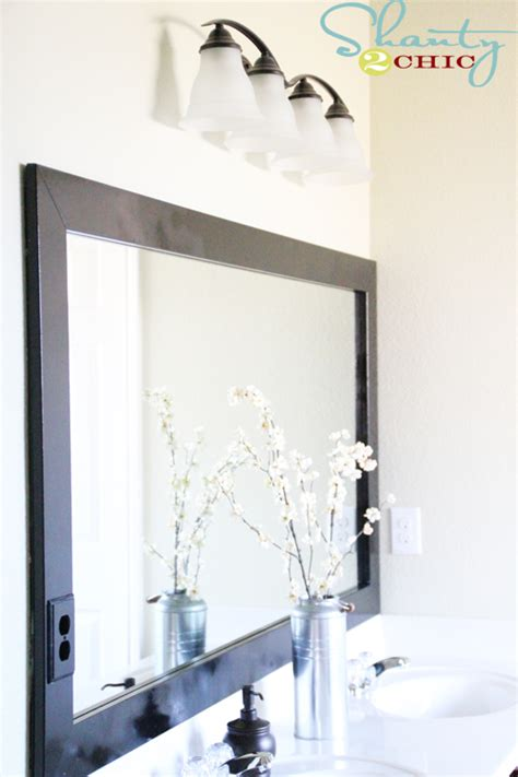 inexpensive bathroom mirrors cheap bathroom mirror frame shanty 2 chic