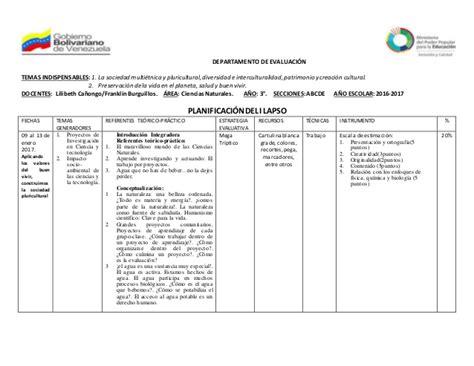 Modelo Curricular Bolivariano Planificaci 243 N De 3 A 241 O Ves Seg 250 N Nuevo Curriculo Venezolano