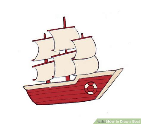 how to draw a traditional boat how to draw a boat wikihow