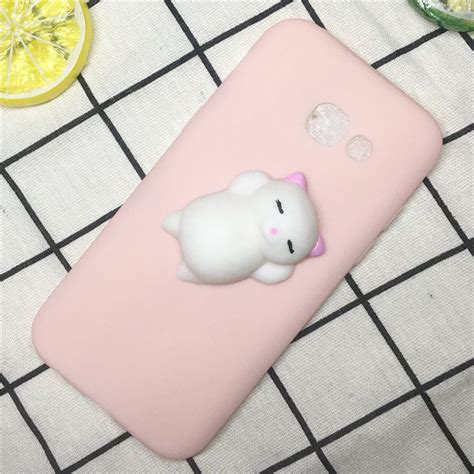 Squishy 3d 1 Silicon Tpu Soft Cover Samsung Berkualitas 1 squishy 3d lazy cat cloud soft silicone cover for samsung galaxy s8 ebay