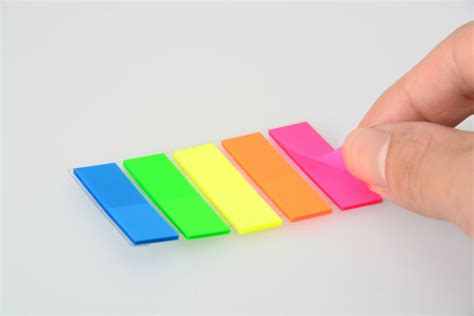 book reminding page marker adhesive plastic sticky note