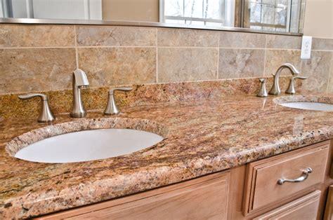 madura gold granite bathroom vanity traditional