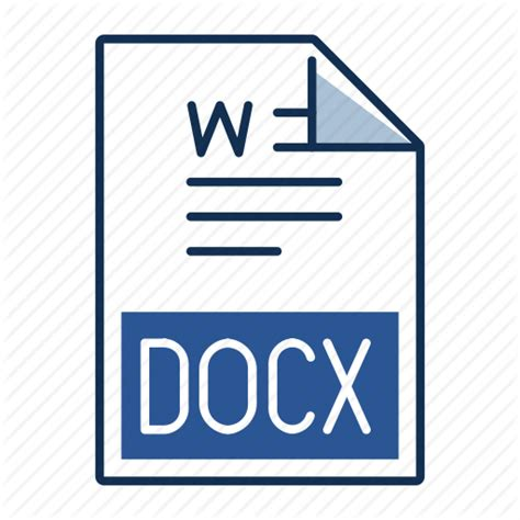 document docx extension file format icon