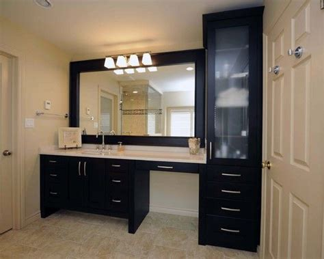 bathroom cabinet with makeup vanity sink makeup vanity same height the drawers and