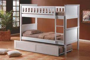 White Bunk Bed With Trundle White Bunk With Trundle Bed